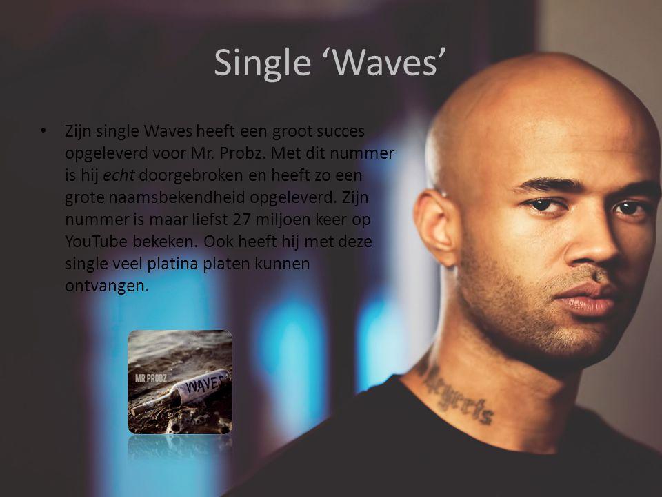 Single 'Waves' Zijn single Waves heeft een groot succes opgeleverd voor Mr.