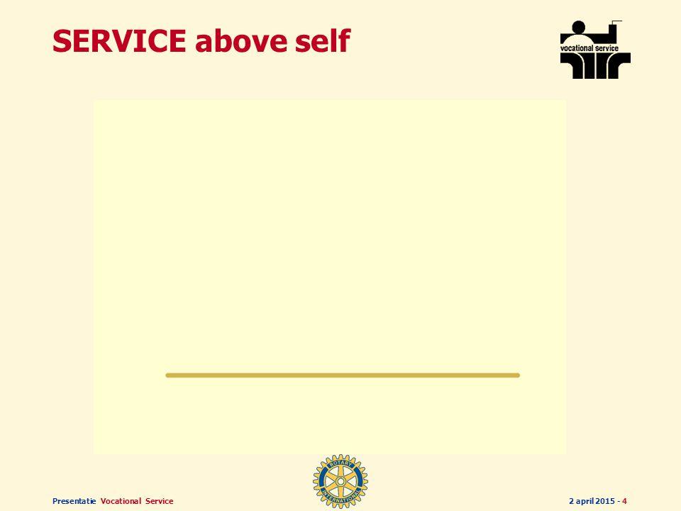 Presentatie Vocational Service2 april 2015 - 4 SERVICE above self