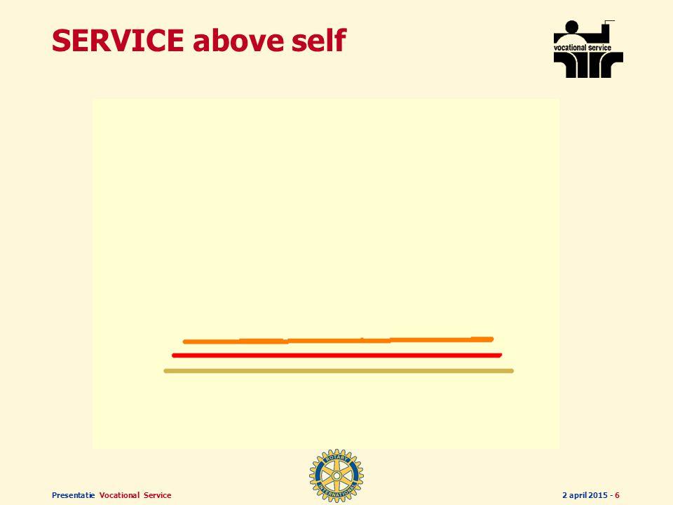 Presentatie Vocational Service2 april 2015 - 16 SERVICE above self SERVICE