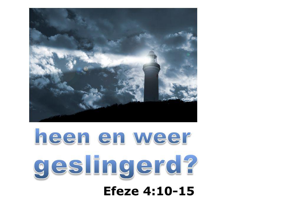 Efeze 4:13 totdat wij allen de eenheid des geloofs en der volle kennis van de Zoon Gods bereikt hebben, niet: aangaande