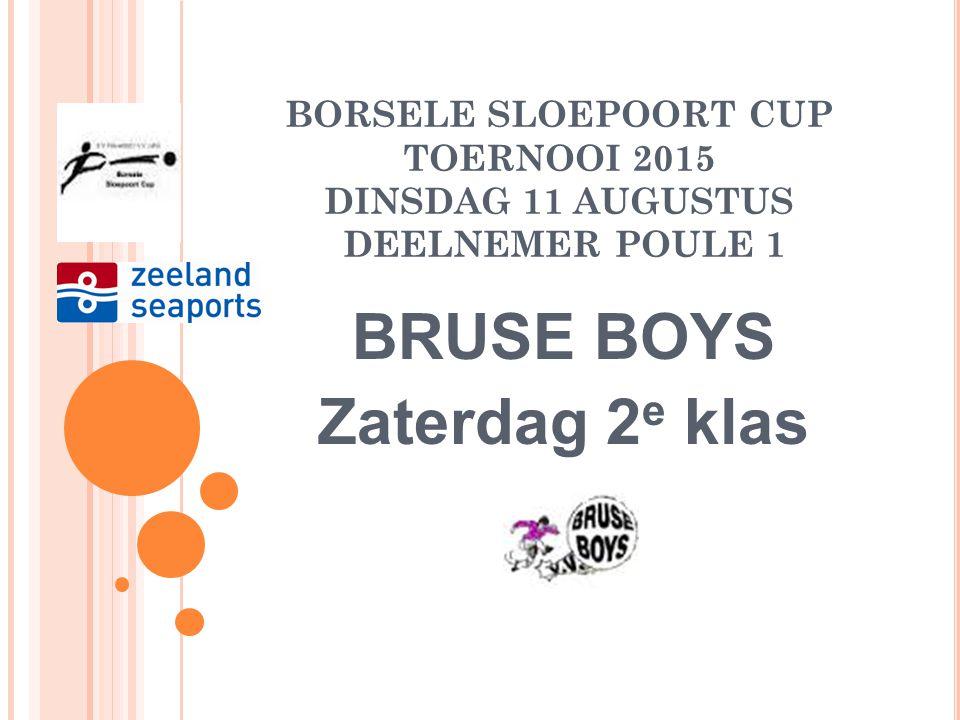 BORSELE SLOEPOORT CUP TOERNOOI 2015 DINSDAG 11 AUGUSTUS DEELNEMER POULE 1 HVV '24 Zondag 2 e klas