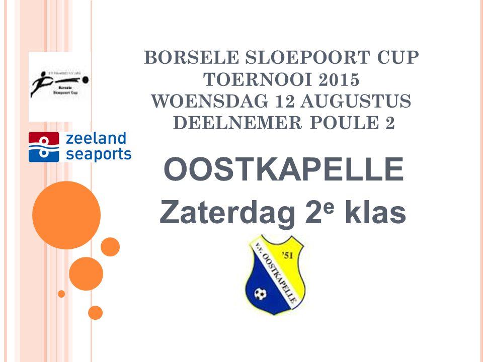 BORSELE SLOEPOORT CUP TOERNOOI 2015 DINSDAG 11 AUGUSTUS DEELNEMER POULE A WEDSTRIJDSCHEMA NIEUWDORP-ARNEMUIDEN BRUSE BOYS-HVV'24 AANVANG: 19.00 uur Sc