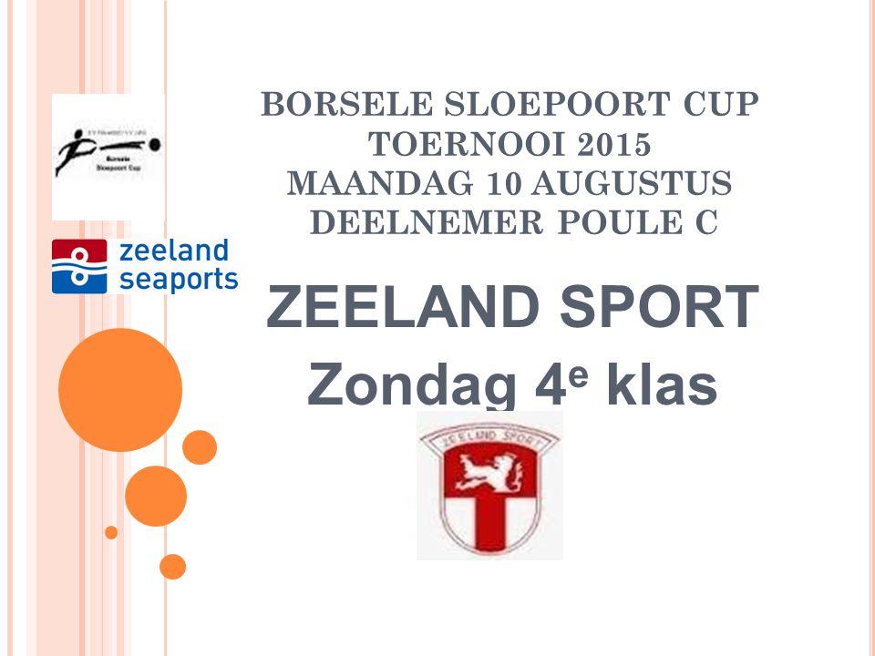 BORSELE SLOEPOORT CUP TOERNOOI 2015 ZATERDAG 15 AUGUSTUS SUPER POULE FINALEDAG: 16.30-18.15 uur Winnaar W1-Verliezer W2 Winnar W2-Verliezer W1 Wedstrijdduur: 90 minuten