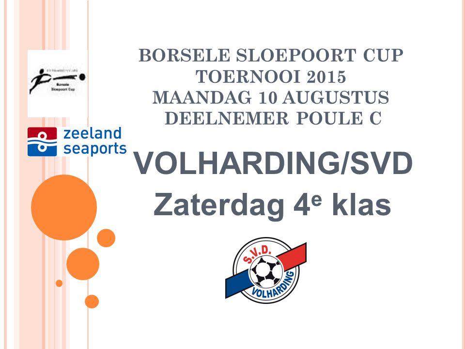 BORSELE SLOEPOORT CUP TOERNOOI 2015 MAANDAG 10 AUGUSTUS DEELNEMER POULE C ZEELAND SPORT Zondag 4 e klas