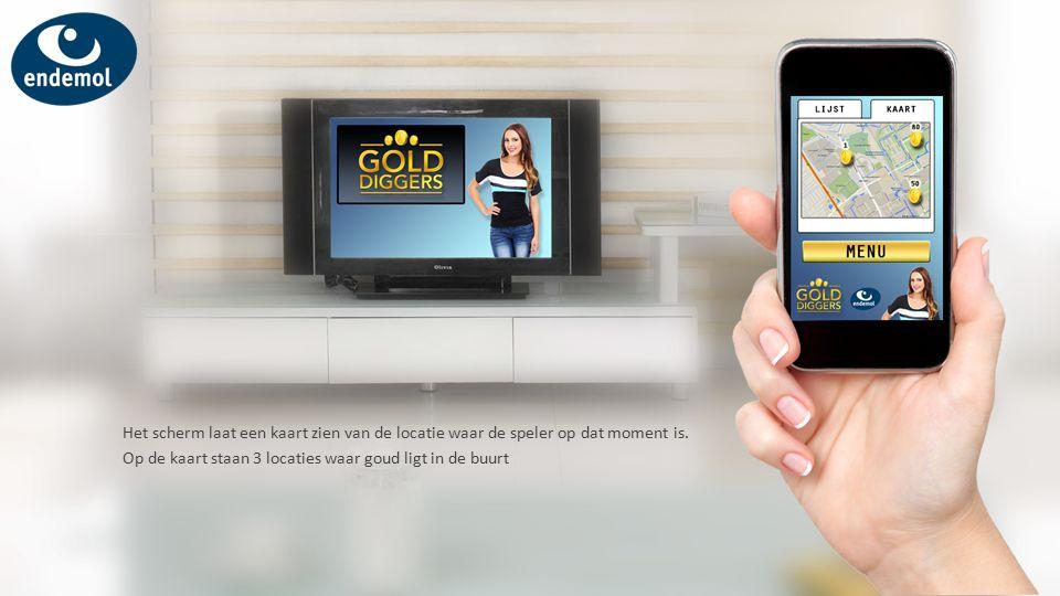 Het scherm laat een kaart zien van de locatie waar de speler op dat moment is.