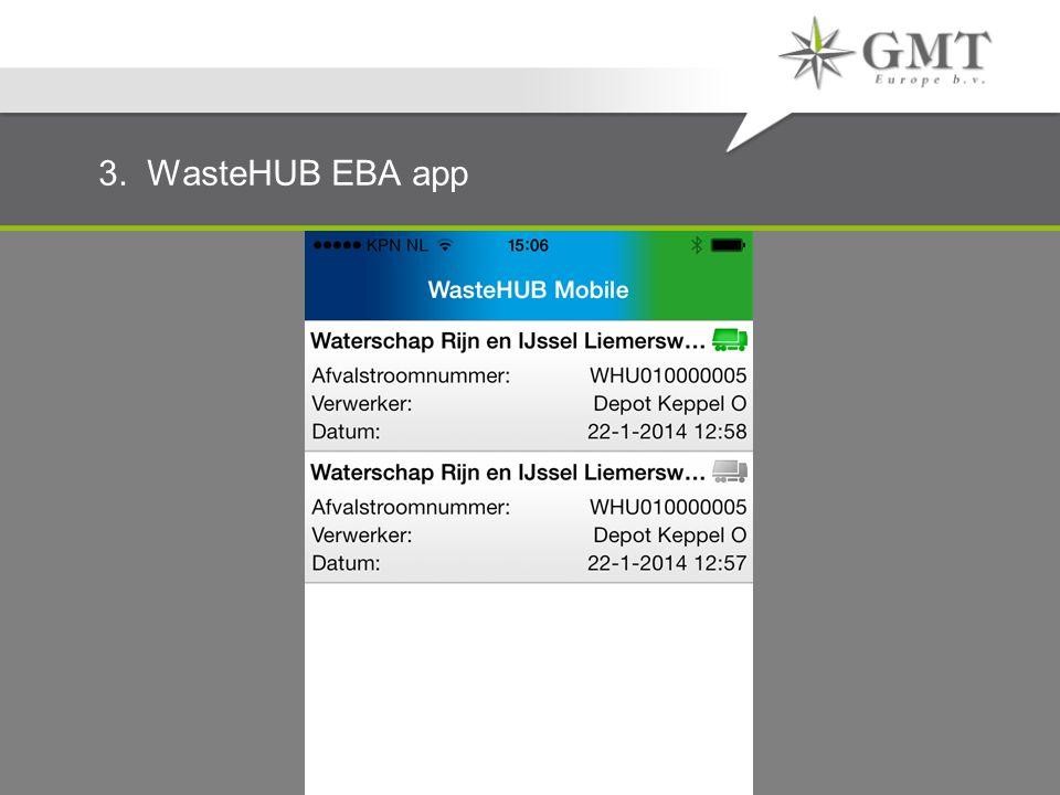 3. WasteHUB EBA app