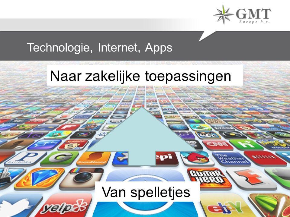 Technologie, Internet, Apps Van spelletjes Naar zakelijke toepassingen