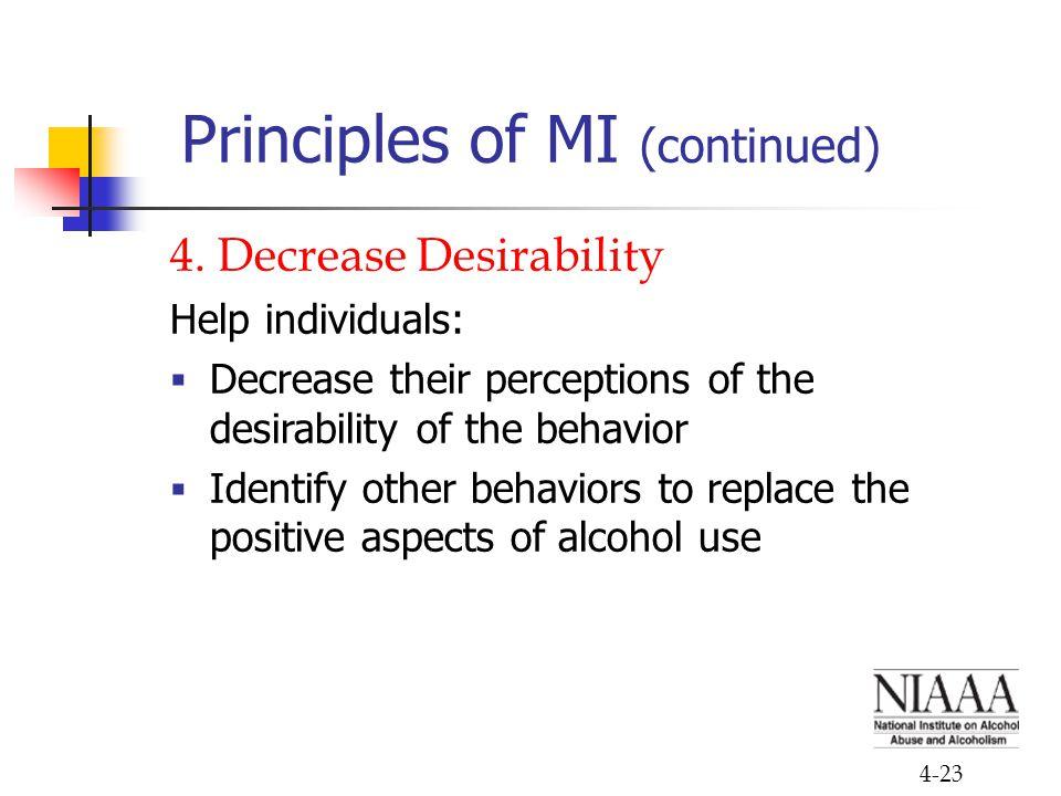 4-23 Principles of MI (continued) 4.
