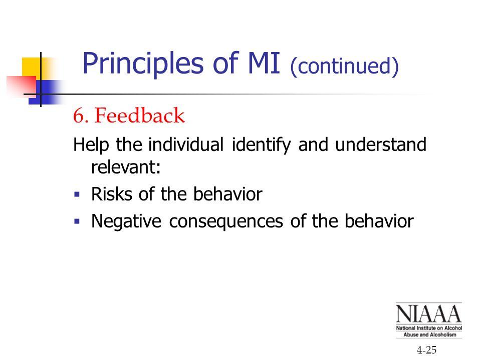 4-25 Principles of MI (continued) 6.