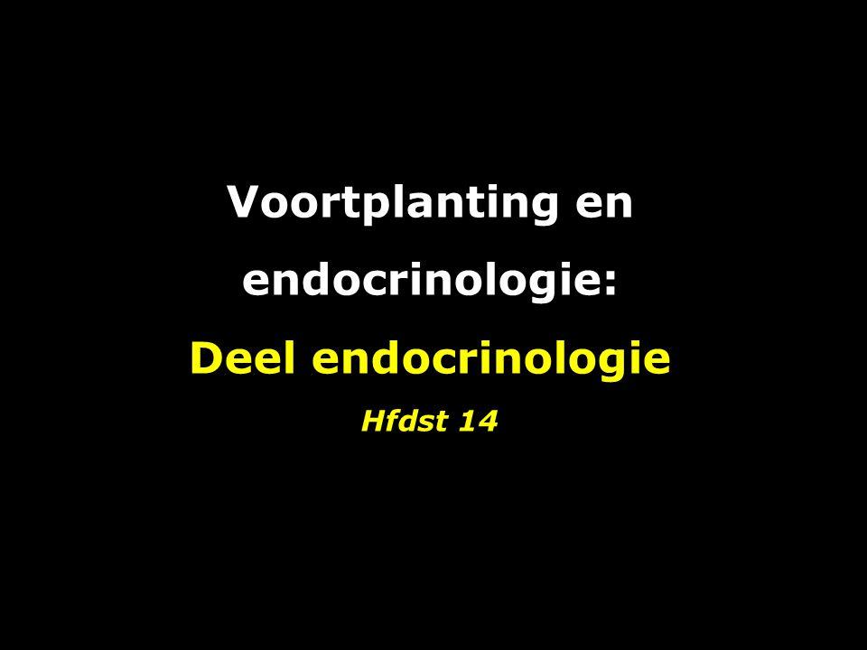 Voortplanting en endocrinologie: Deel endocrinologie Hfdst 14