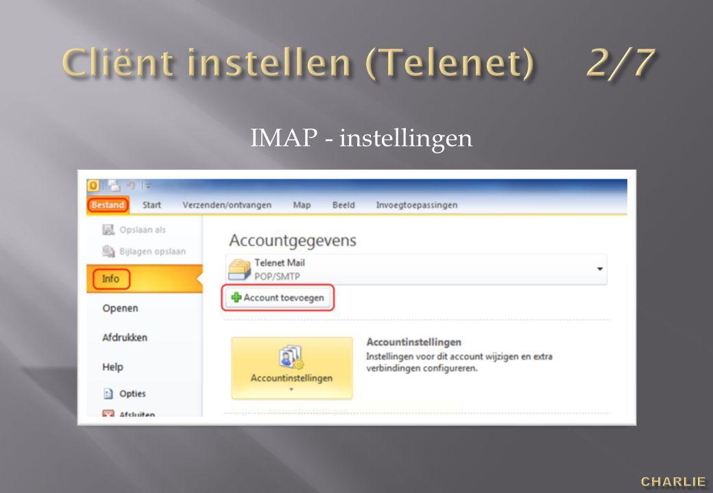 IMAP - instellingen