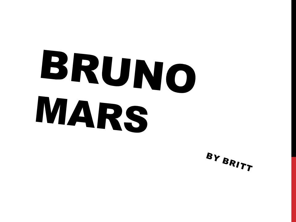 BRUNO MARS BY BRITT