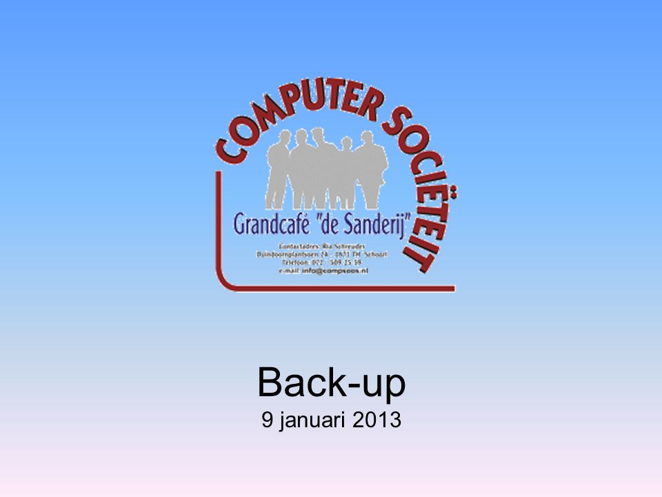 Back-up Wat is een back-up en waarom back-uppen .