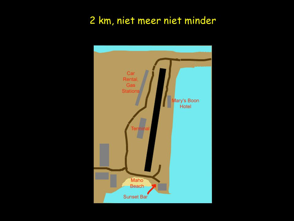 2 km, niet meer niet minder