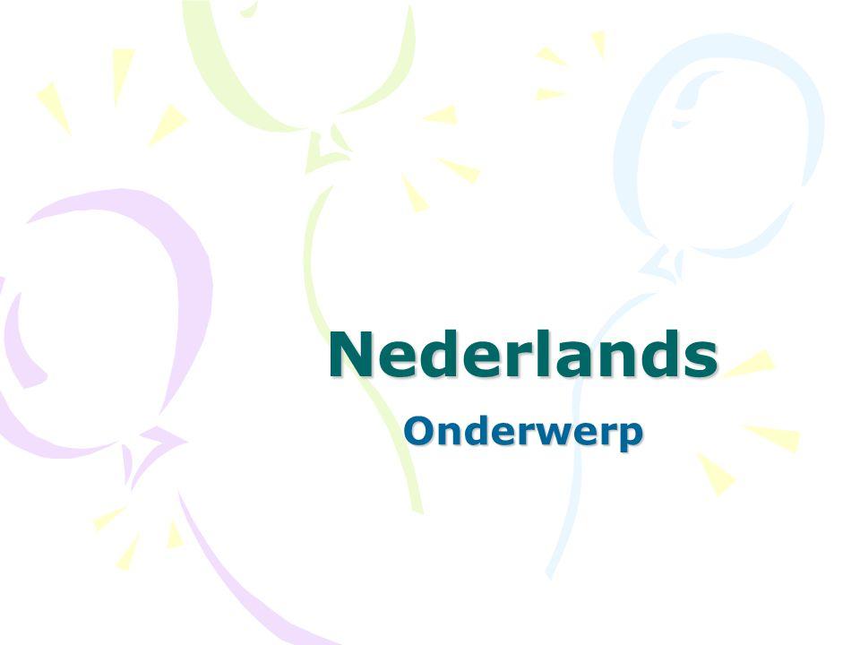 Nederlands Onderwerp