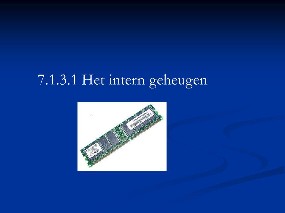 7.1.3.1 Het intern geheugen