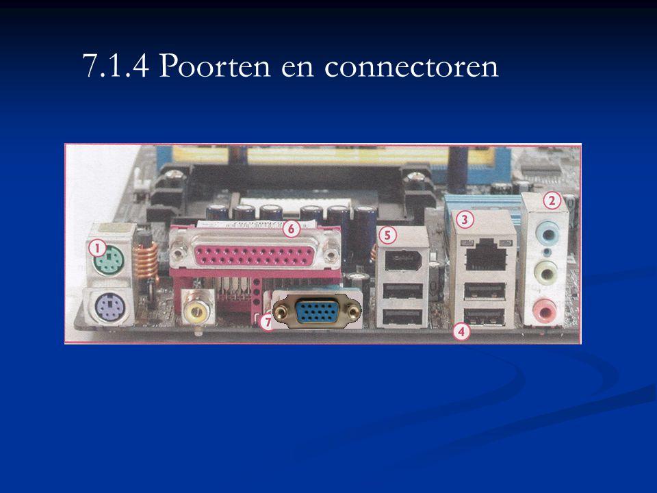 7.1.4 Poorten en connectoren