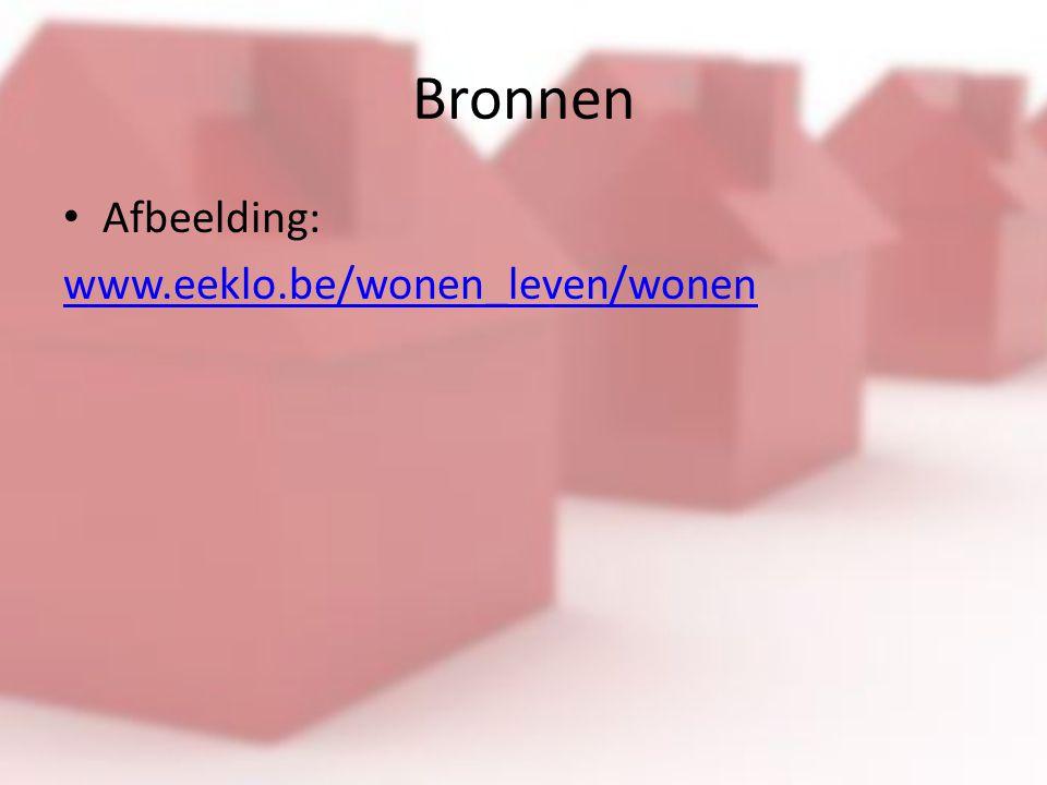 Bronnen Afbeelding: www.eeklo.be/wonen_leven/wonen