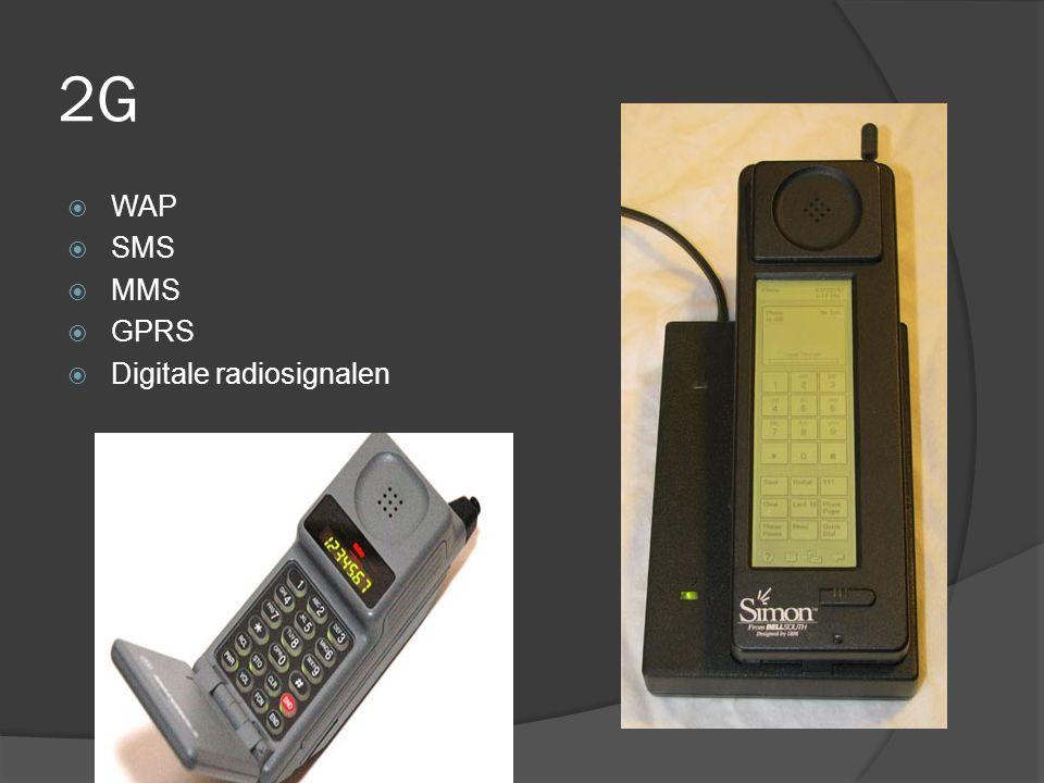 2G  WAP  SMS  MMS  GPRS  Digitale radiosignalen