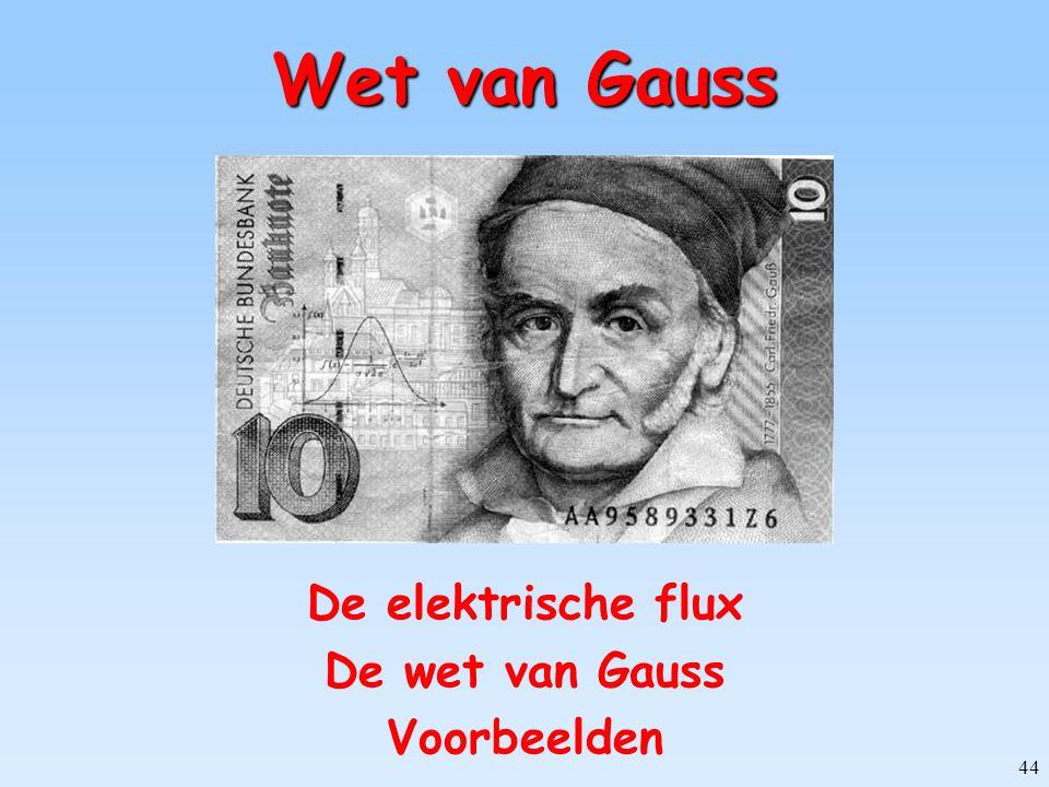44 Wet van Gauss De elektrische flux De wet van Gauss Voorbeelden