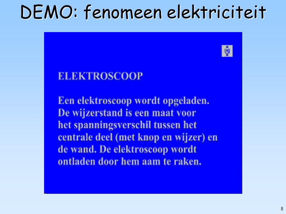 8 DEMO: fenomeen elektriciteit