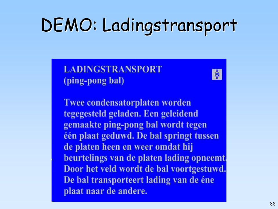 88 DEMO: Ladingstransport