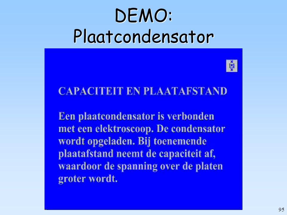 95 DEMO: Plaatcondensator