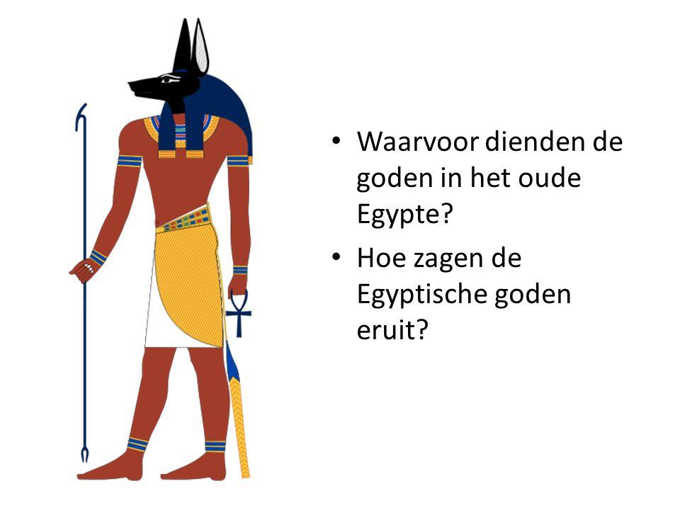 1.Horus (verbonden met de farao, hemelgod) 2.