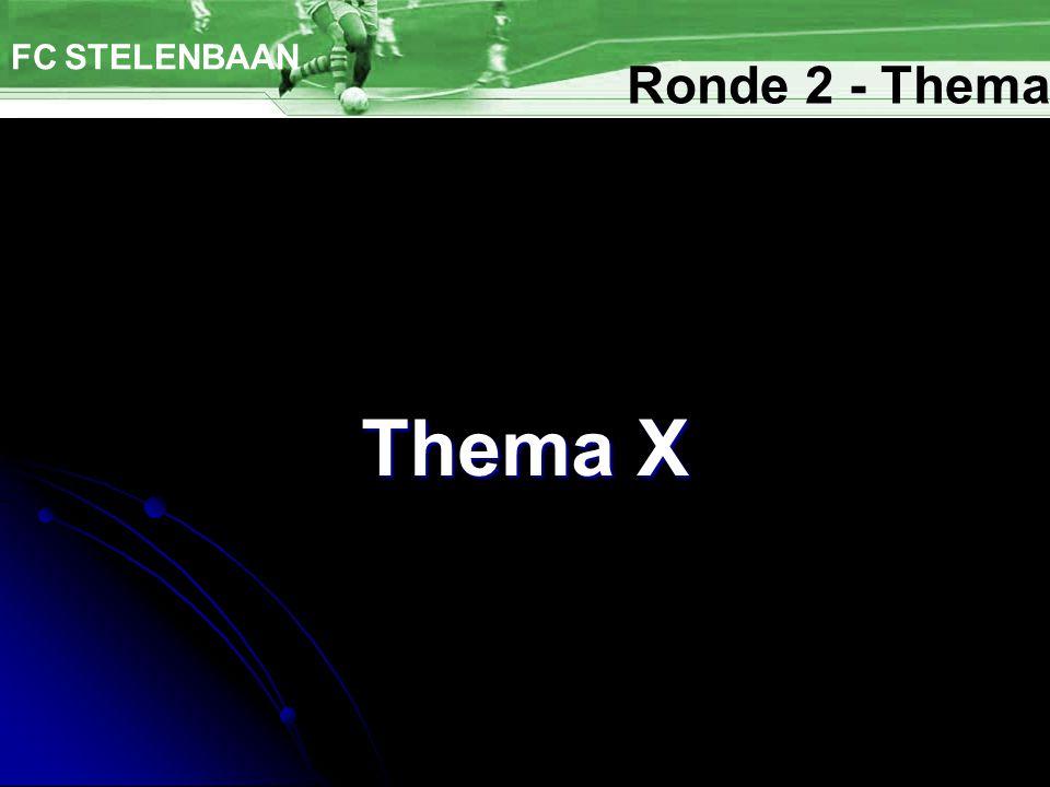 Bier FC STELENBAAN Ronde 2 - Thema