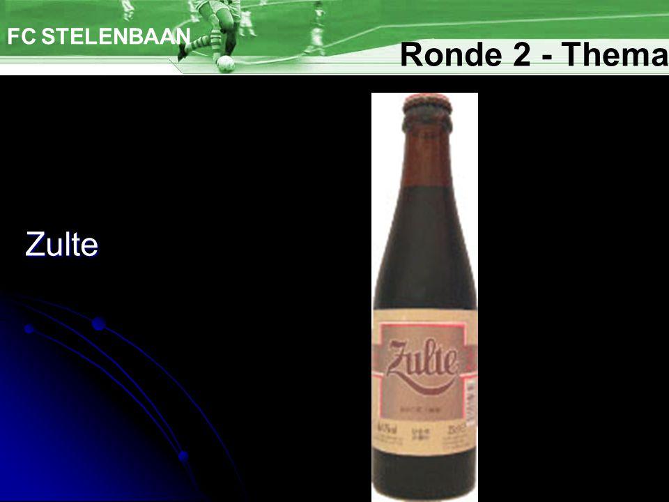 Zulte FC STELENBAAN Ronde 2 - Thema