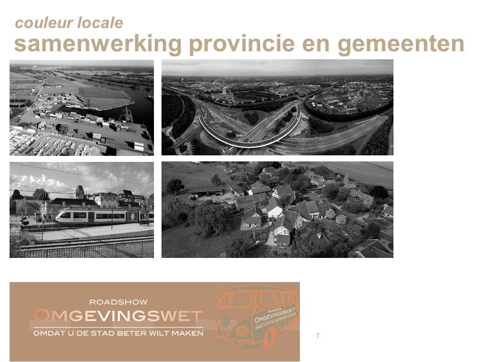couleur locale 1 samenwerking provincie en gemeenten