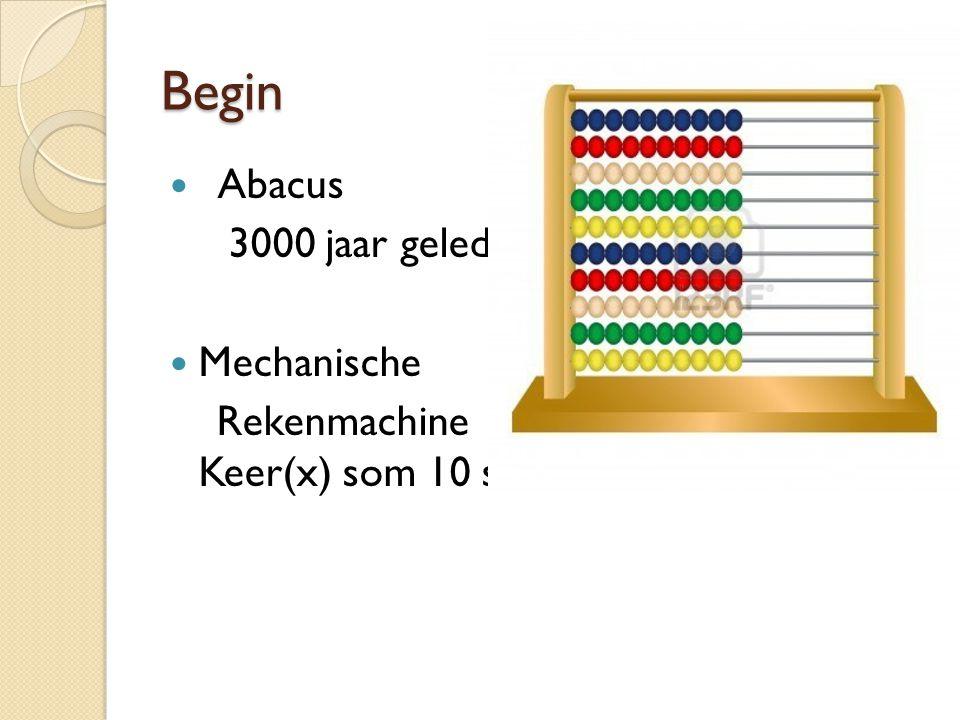 Begin Abacus 3000 jaar geleden Mechanische Rekenmachine Keer(x) som 10 sec!