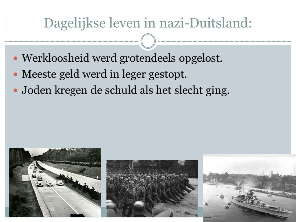 Dagelijkse leven in nazi-Duitsland: Werkloosheid werd grotendeels opgelost.