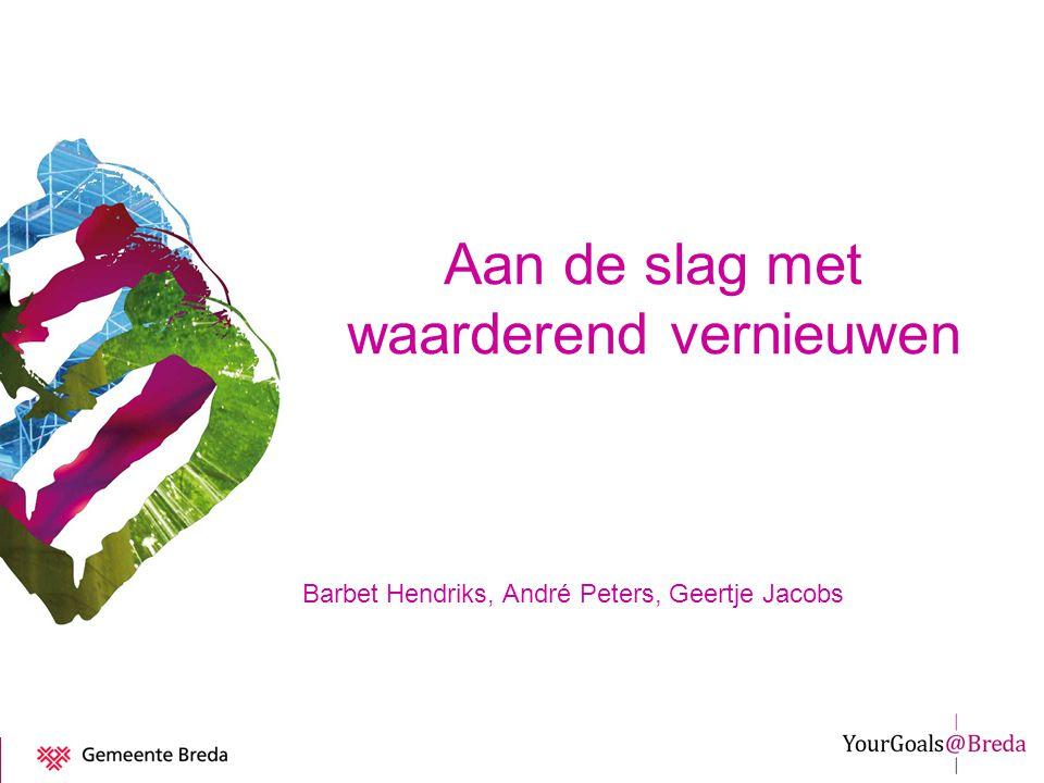 Aan de slag met waarderend vernieuwen Barbet Hendriks, André Peters, Geertje Jacobs