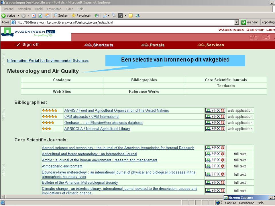 Ga naar Portals Kies de portal voor uw vakgebied Kies een onderwerp Een selectie van bronnen op dit vakgebied