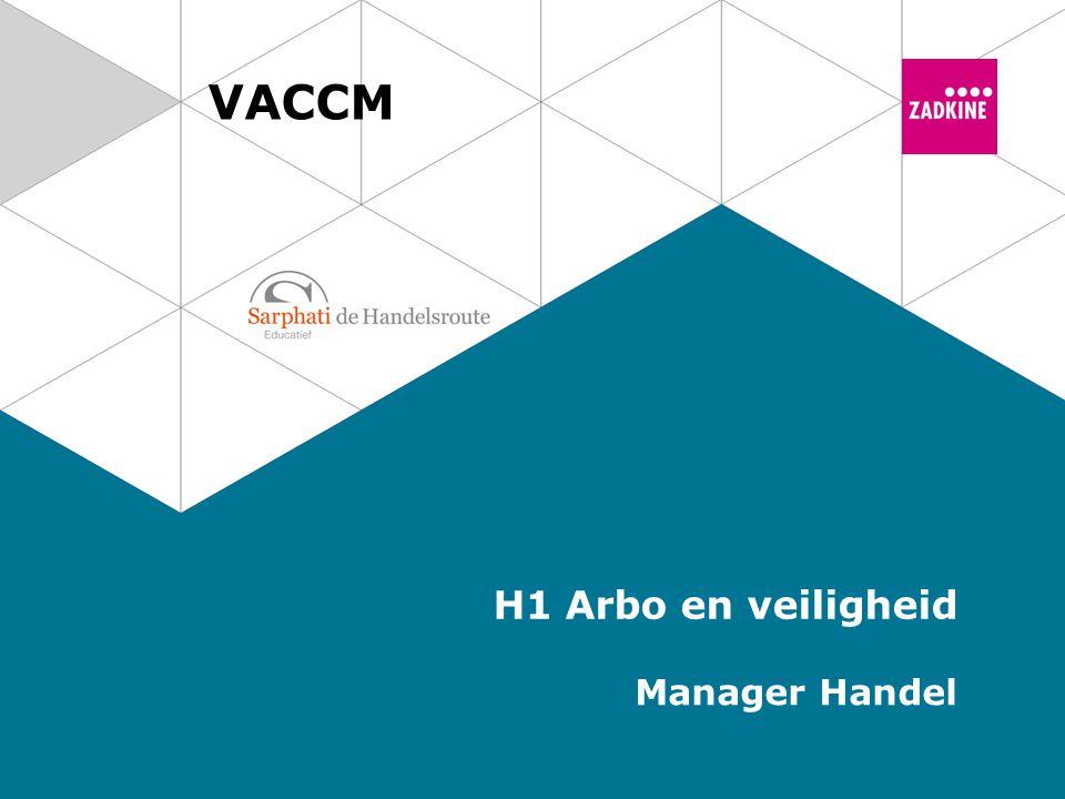 Arbo en veiligheid 2 VACCM | Manager Handel