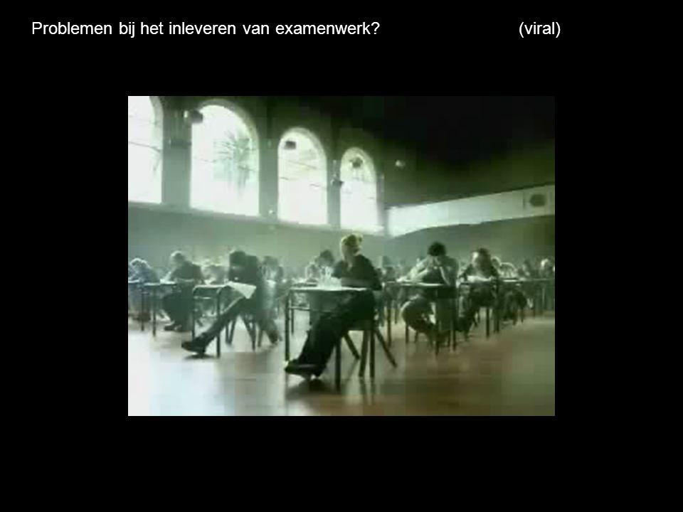 Problemen bij het inleveren van examenwerk (viral)