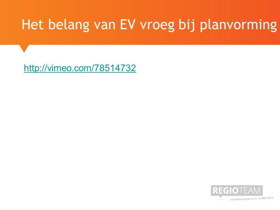 http://vimeo.com/78514732 Het belang van EV vroeg bij planvorming