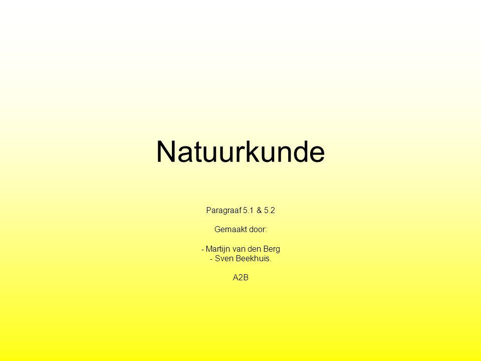 Natuurkunde Paragraaf 5.1 & 5.2 Gemaakt door: - Martijn van den Berg - Sven Beekhuis. A2B