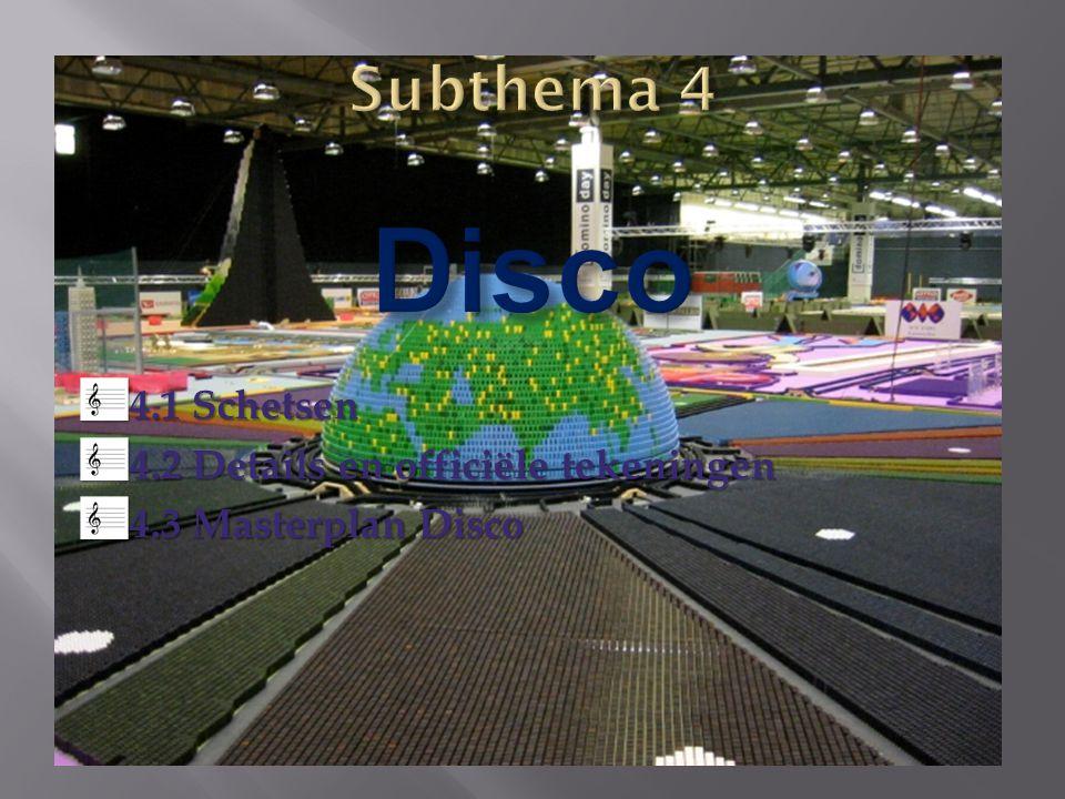 4.1 Schetsen 4.2 Details en officiële tekeningen 4.3 Masterplan Disco