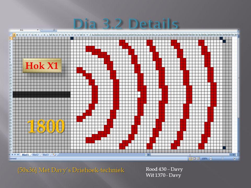 1800 Rood 430 – Davy Wit 1370 - Davy {50x36} Met Davy's Driehoek-techniek Hok X1