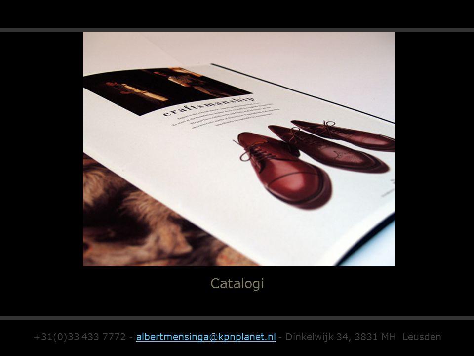 Catalogi +31(0)33 433 7772 - albertmensinga@kpnplanet.nl - Dinkelwijk 34, 3831 MH Leusdenalbertmensinga@kpnplanet.nl
