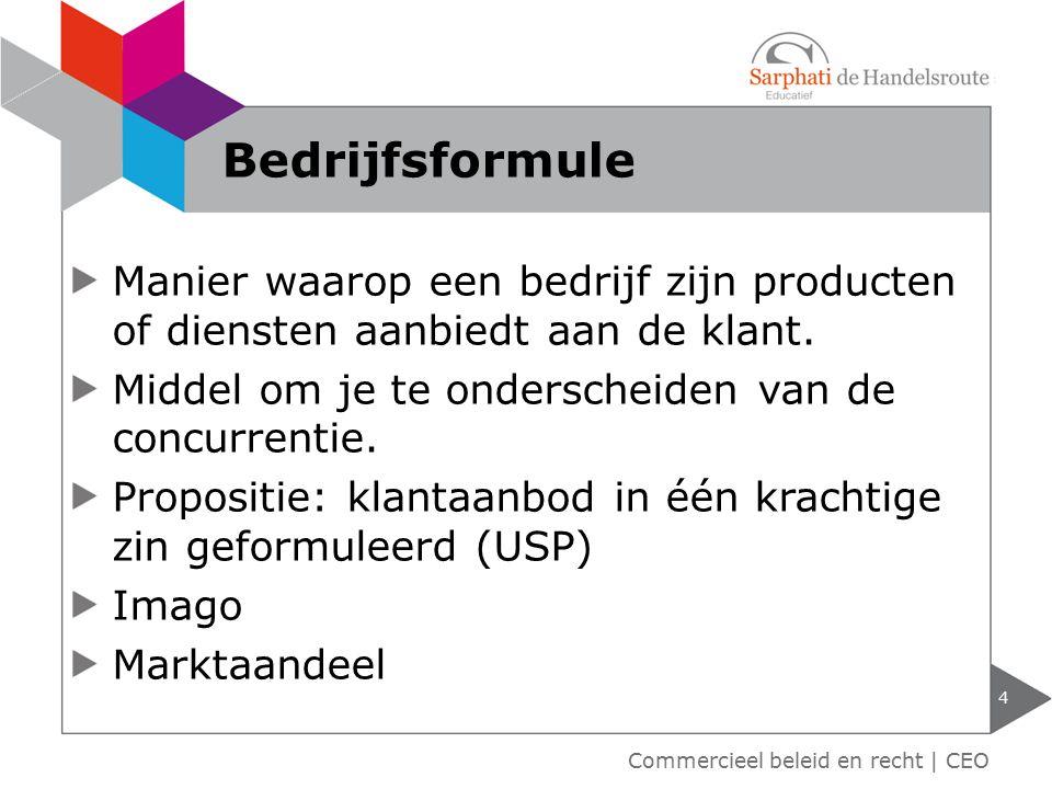 Retailmix 5 Commercieel beleid en recht   CEO