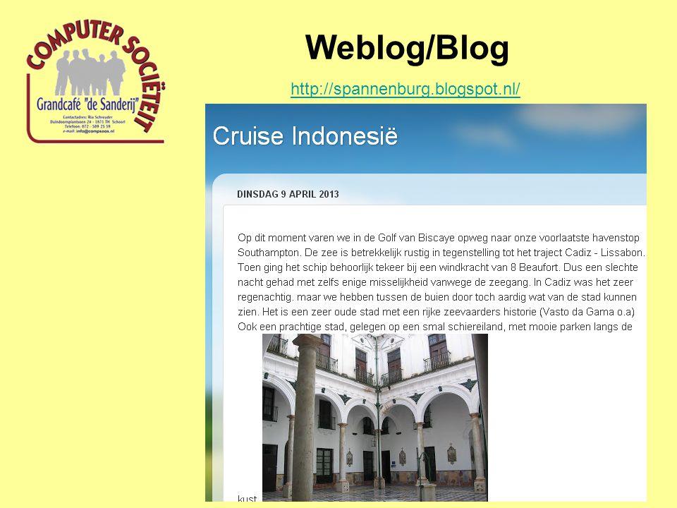 Weblog/Blog http://spannenburg.blogspot.nl/