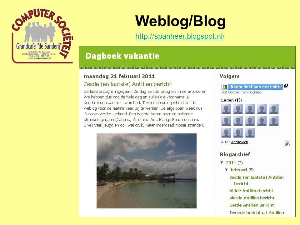 Weblog/Blog http://spanheer.blogspot.nl/