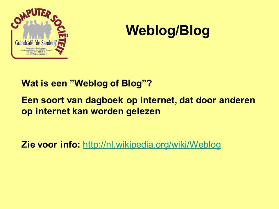 Weblog/Blog