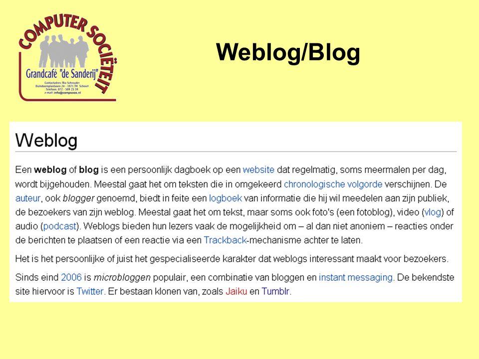 Wat voor soorten Blog's zijn er.
