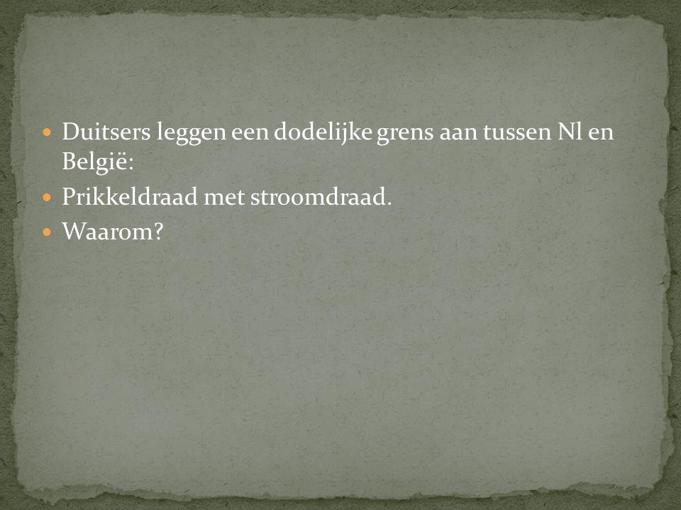3 redenen: Vluchtelingen naar Nl tegenhouden Geen smokkel tussen NL-België Grens is dan makkelijker te bewaken