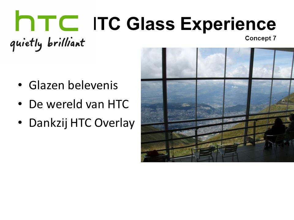 HTC Glass Experience Concept 7 Glazen belevenis De wereld van HTC Dankzij HTC Overlay