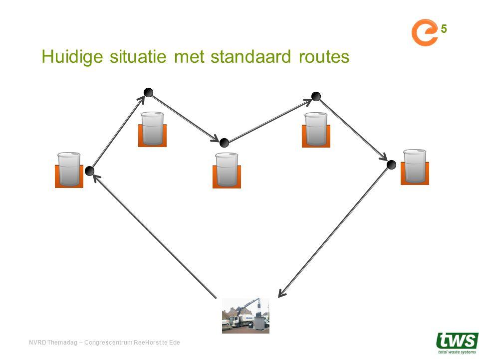 5 Huidige situatie met standaard routes NVRD Themadag – Congrescentrum ReeHorst te Ede